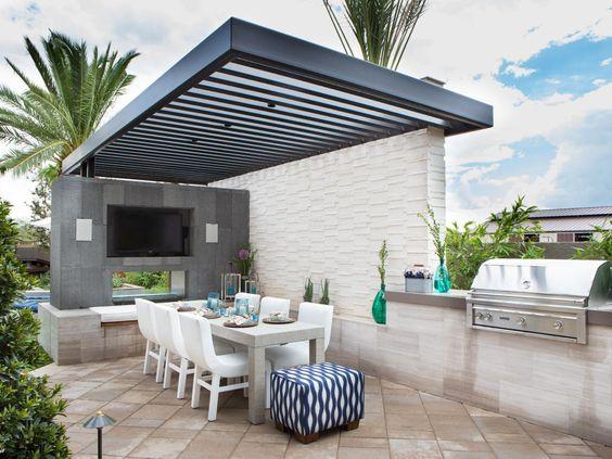31 ideas para montar asadores en tu patio 25 curso de for Asadores modernos para patio