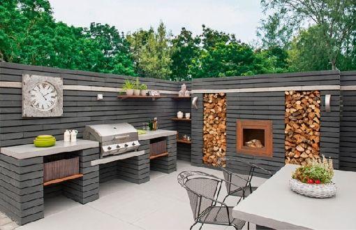 31 ideas para montar asadores en tu patio 5 curso de for Asadores modernos para patio