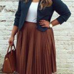 39 Outfits con blazer para chicas talla grande