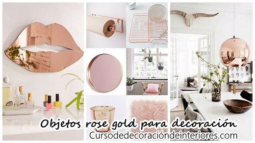 40 objetos rose gold para decorar tu casa curso de for Objetos modernos para decorar el hogar