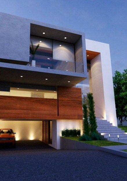 42 disenos interiores y exteriores de casas de dos pisos Pisos para exteriores de casas modernas