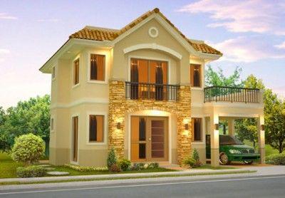 42 disenos interiores y exteriores de casas de dos pisos for Diseno de exteriores de casas pequenas