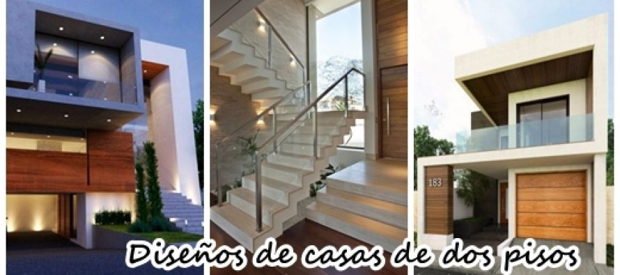 42 dise os interiores y exteriores de casas de dos pisos - Diseno de pisos ...