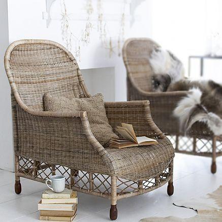 Disenos de sofas de mimbre para interior y exterior 17 - Sofas de mimbre ...