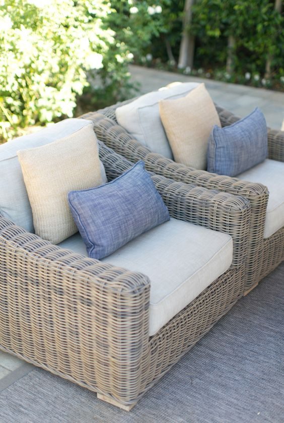 Disenos de sofas de mimbre para interior y exterior 24 - Sofas para exterior ...