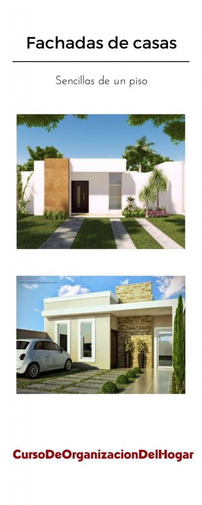 Fachadas de casas sencillas de un piso