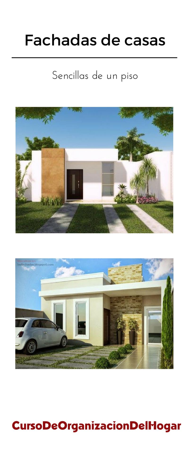 Fachadas de casas sencillas de un piso curso de for Fachadas de casas de un piso sencillas y modernas