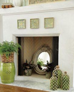 Ideas para decorar una chimenea