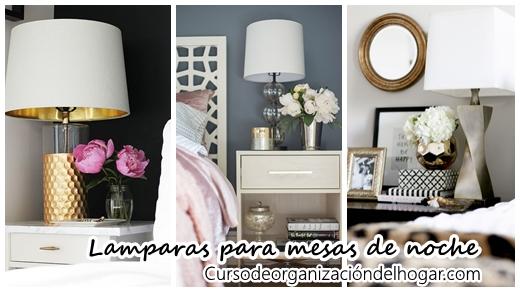 Lamparas para decorar tu mesa de noche curso de organizacion del hogar y decoracion de interiores - Curso decoracion interiores ...