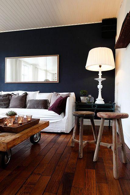 Realza la decoracion de tu casa con paredes oscuras te for Decoracion la casa