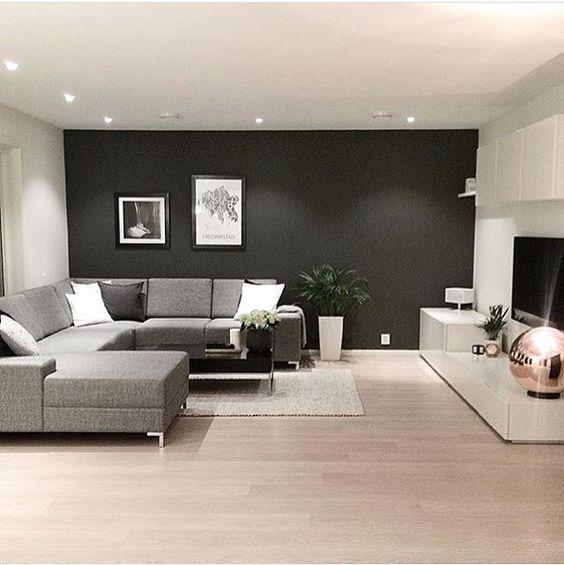 Realza la decoracion de tu casa con paredes oscuras te - La casa decoracion ...