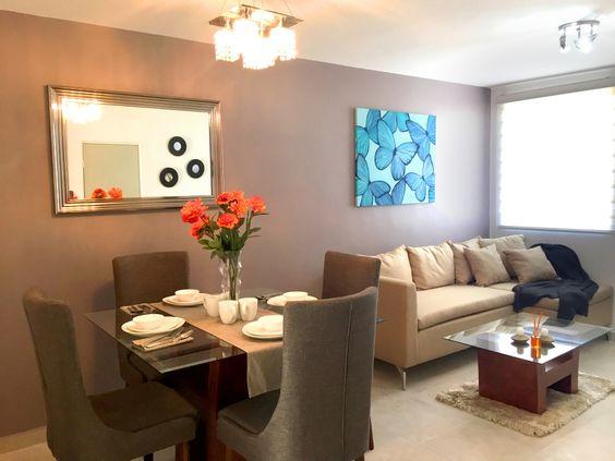 Sala comedor en un condominio pequeno 2 curso de for Decoracion para interiores pequenos