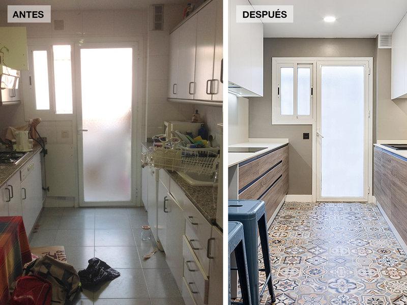 Ideas de escaleras para casas grandes y peque as - Banos reformados antes y despues ...