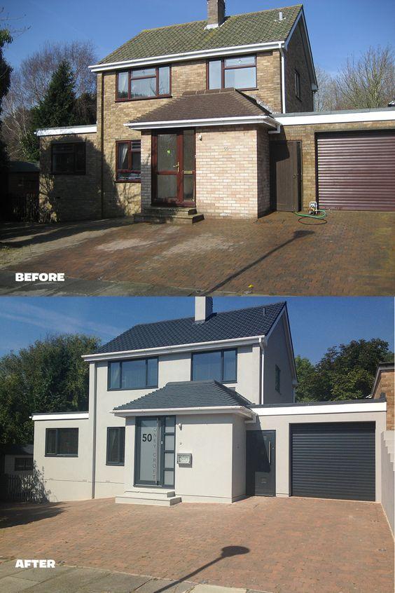27 casas antes y despu s remodelaciones sorprendentes curso de organizacion del hogar y House transformations exterior