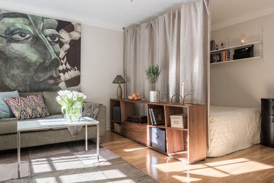 27 pr cticas ideas para dividir espacios en casa Decoracion de espacios abiertos en casa