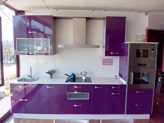 Cocinas color morado 12 curso de organizacion del - Cocina color lila ...