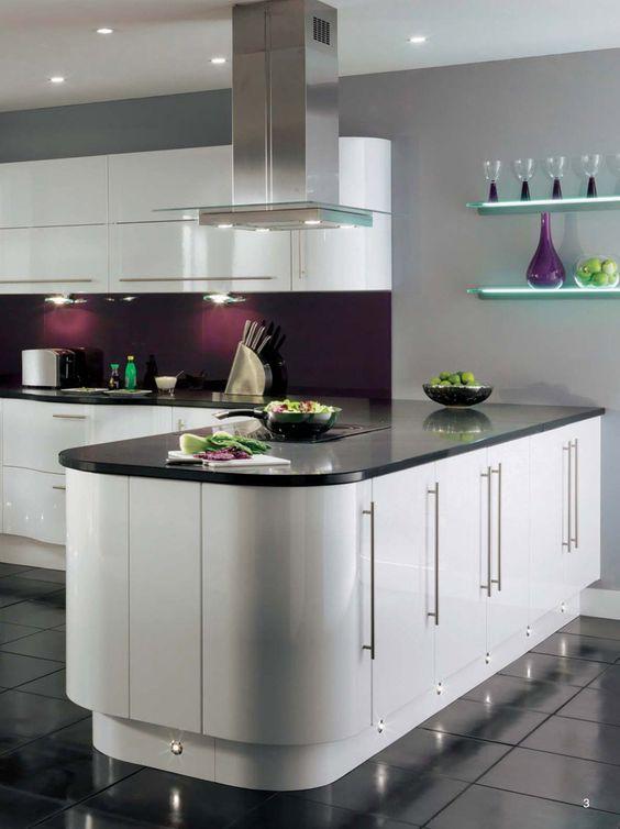 Cocinas color morado - Cocina color lila ...