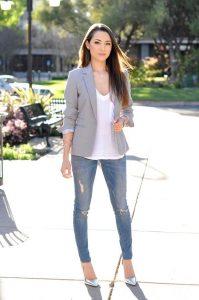 Como combinar blazers con jeans