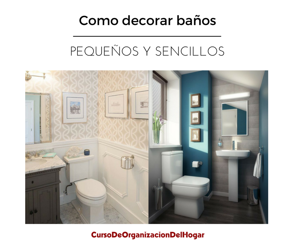 Como decorar un ba o peque o y sencillo curso de for Como decorar un bano moderno