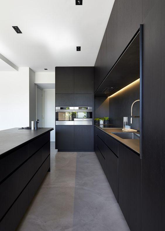 Decoracion de cocinas color negro