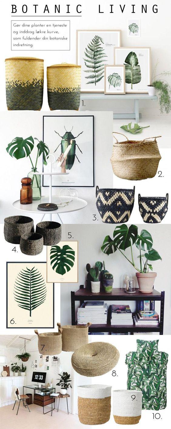 Decoración de interiores estilo tropical chic