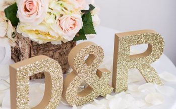 Decoración en dorado para bodas