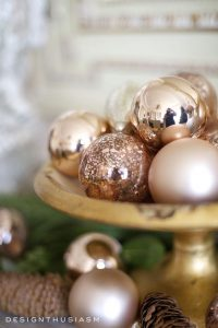 Decoraciones navideñas 2017 en rose gold