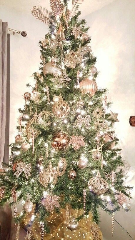 Arboles de navidad rose gold