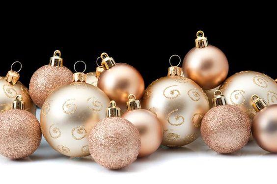 Adornos navideños rose gold
