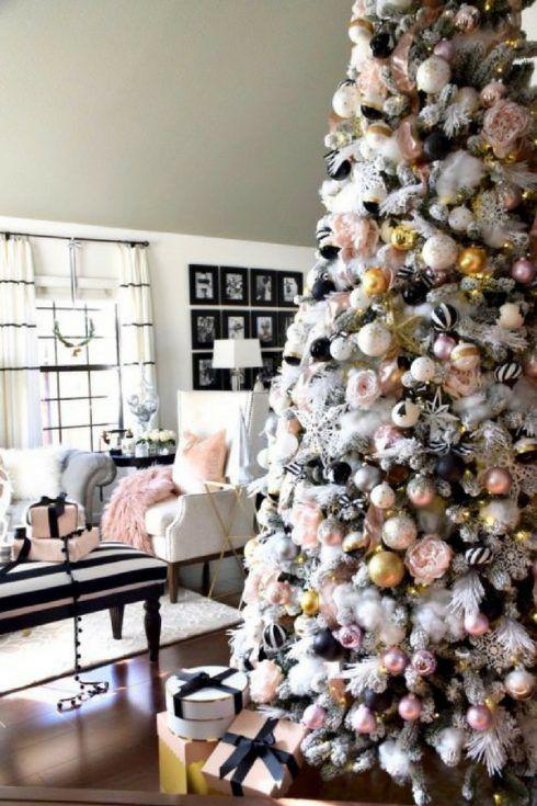 Decoraciones navideñas 2018 en rose gold