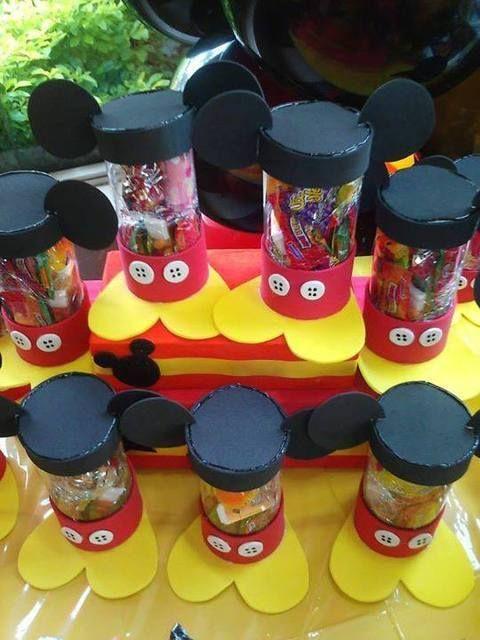Dulceros para fiesta de mickey mouse