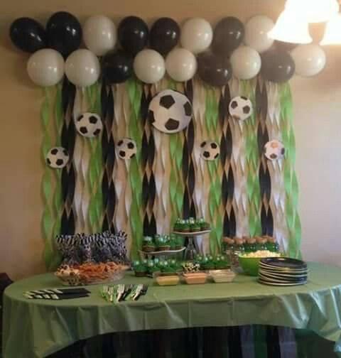 Fiesta infantil con tema de futbol 17 curso de organizacion del hogar y decoracion de interiores - Cortinas infantiles barcelona ...