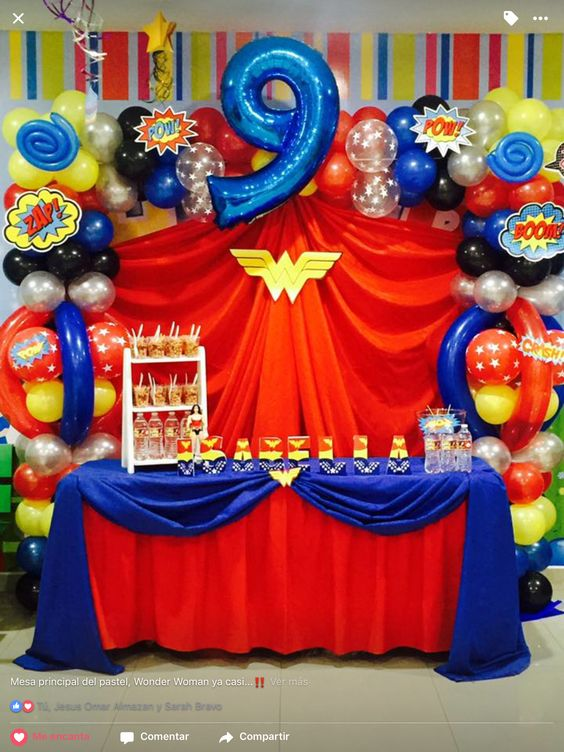 Fiesta infantil de la mujer maravilla 10 curso de - Preparar fiesta infantil ...