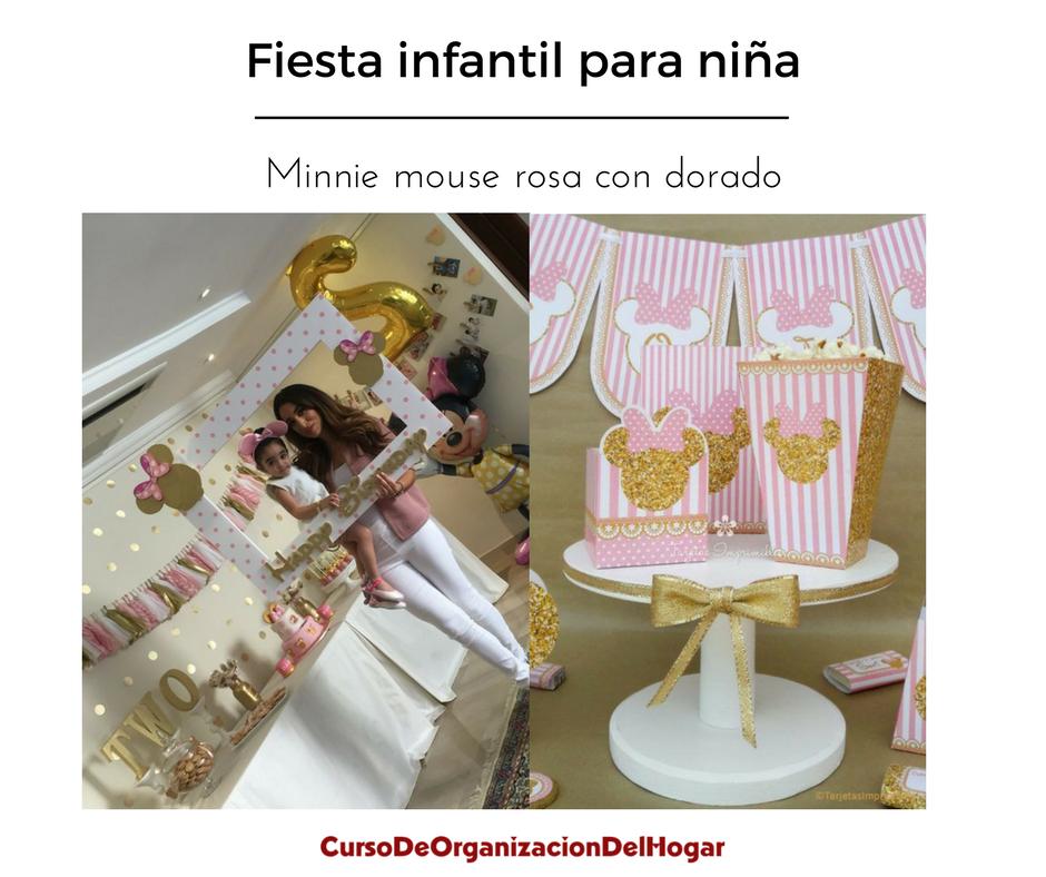 fiesta-infantil-de-minnie-mouse-rosa-con-dorado (28) - Curso de ...