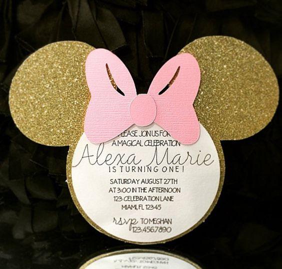 Fiesta infantil de minnie mouse rosa con dorado - Curso de ...