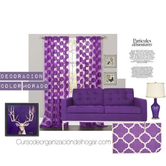 Ideas de decoración de interiores color morado