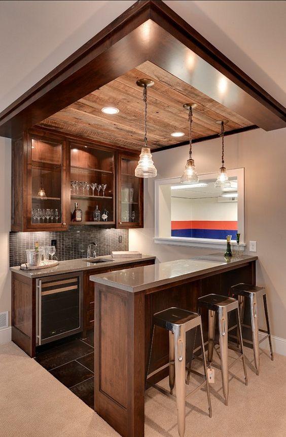 Ideas para montar un mini bar moderno en tu casa 1 - Montar un servidor en casa ...