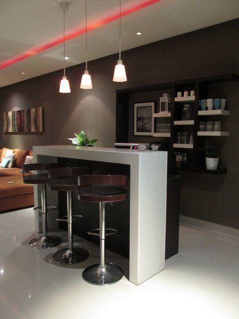 Ideas para montar un mini bar moderno en tu casa 16 curso de organizacion del hogar y - Ideas para montar un bar ...