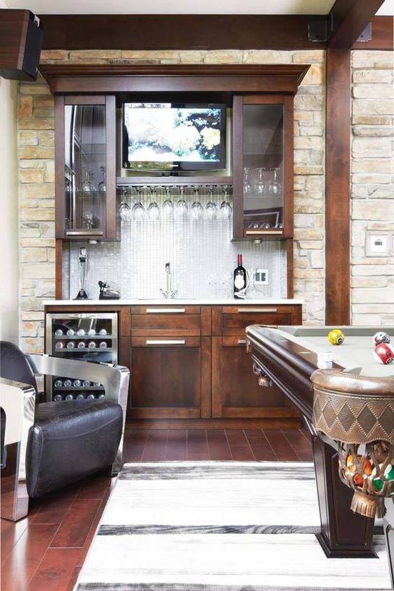 Ideas para montar un mini bar moderno en tu casa 20 curso de organizacion del hogar y - Ideas para montar un bar ...
