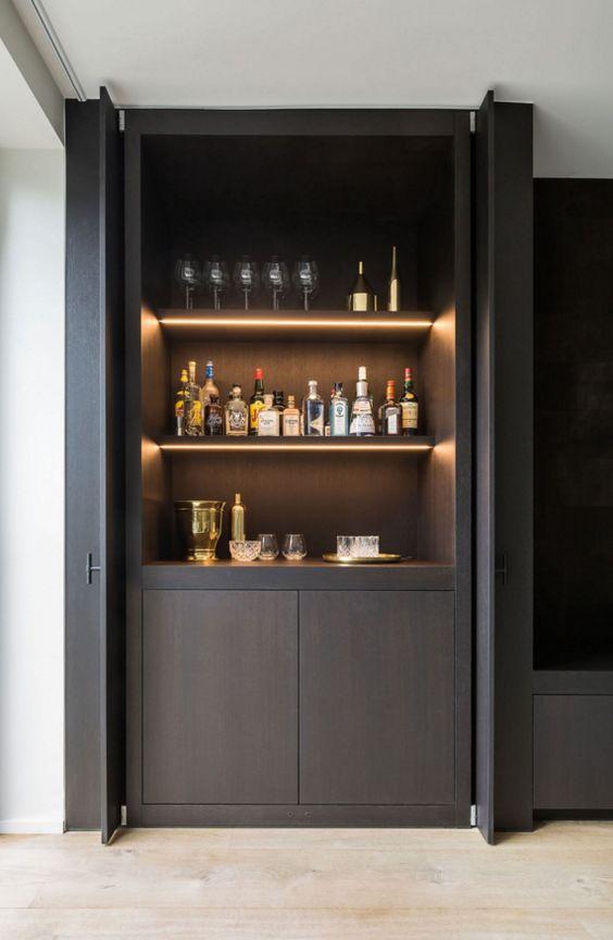 Ideas para montar un mini bar moderno en tu casa 24 curso de organizacion del hogar y - Ideas para montar un bar ...