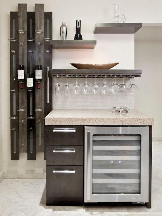 Ideas para montar un mini bar moderno en tu casa 26 curso de organizacion del hogar - Ideas para montar un bar ...