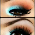 Maquillaje en tonos turquesa