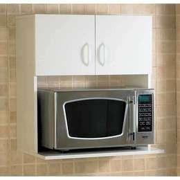 Mira estos 25 muebles de cocina para colocar tu microondas for Muebles de cocina para microondas