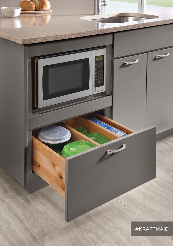 mira-estos-25-muebles-de-cocina-para-colocar-tu-microondas (24 ...