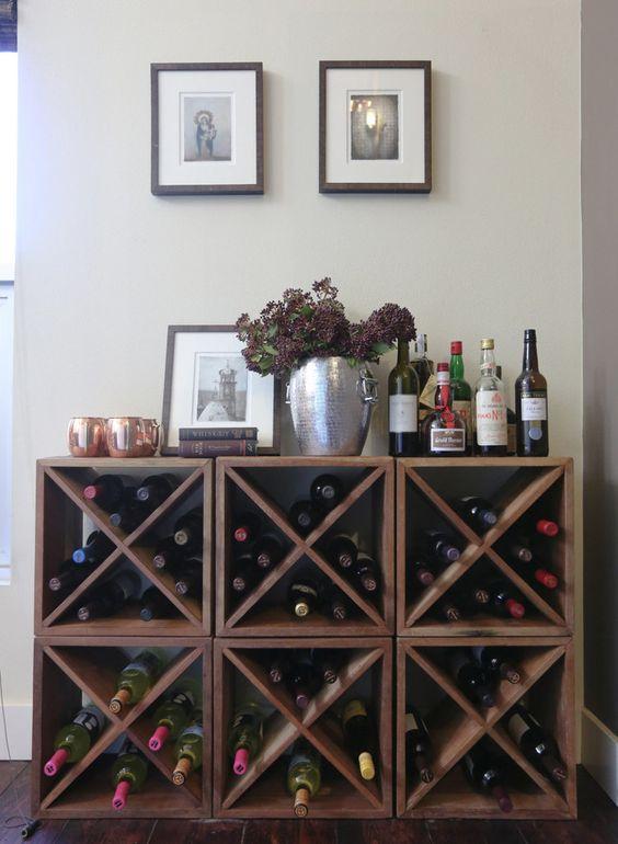 Muebles para guardar vinos en casa for Muebles para almacenar