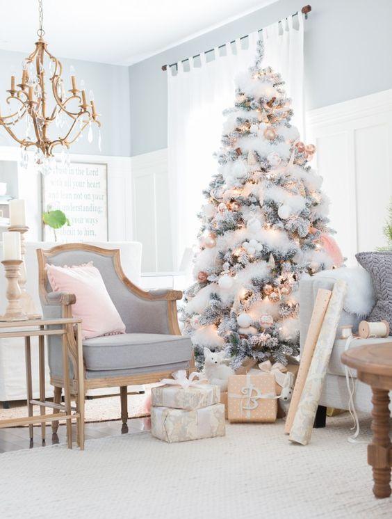 Como Decorar Arboles De Navidad Color Blanco. Cmo Decorar El Rbol De ...