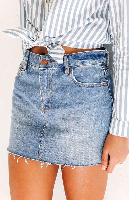 5104751c9 outfits-de-verano-con-faldas-de-mezclilla (18) - Curso de ...