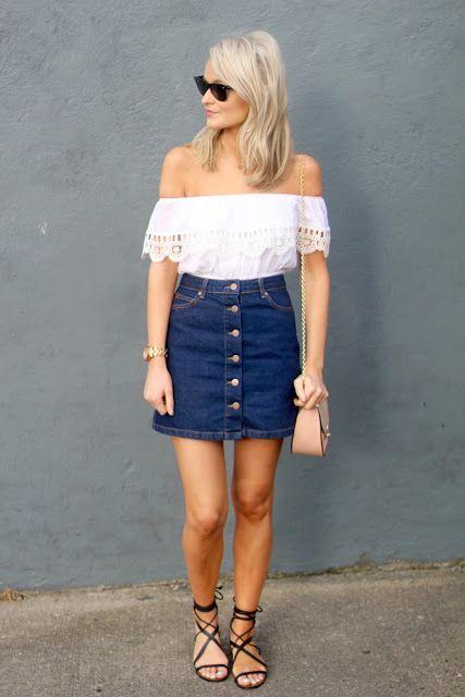 be25501e1 outfits-de-verano-con-faldas-de-mezclilla (23) - Curso de ...