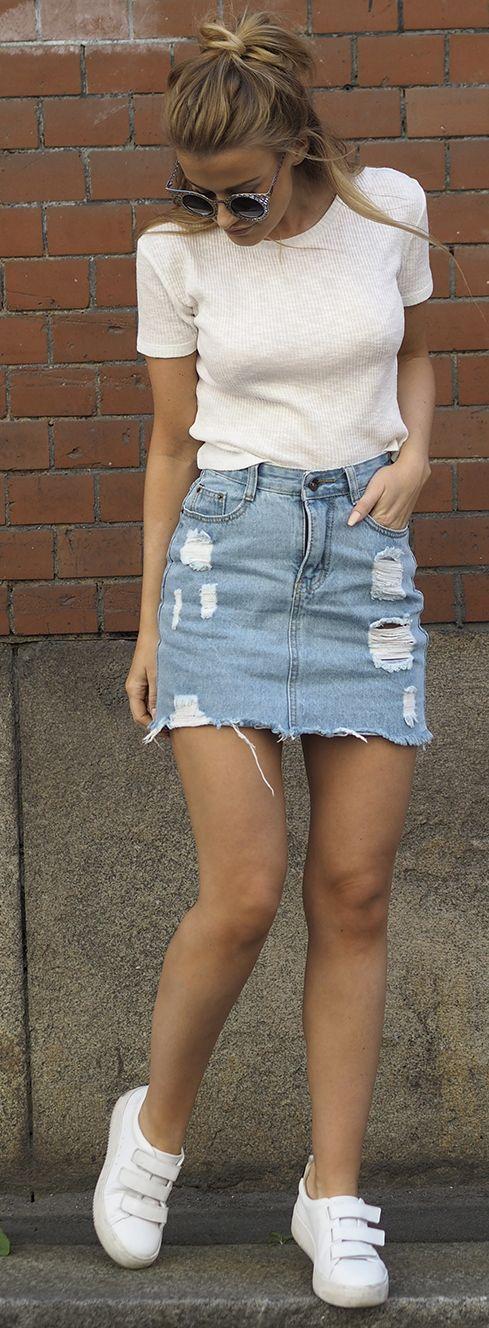 bfdc234d6 outfits-de-verano-con-faldas-de-mezclilla (25) - Curso de ...