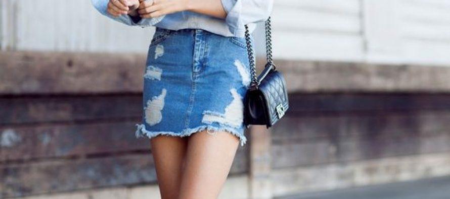 Outfits de verano con faldas de mezclilla
